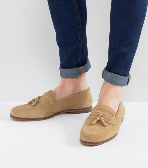 ◎美國代買◎ASOS流蘇裝飾鞋面英倫紳士雅痞風駝色麂皮流蘇休閒鞋平底鞋~英倫街風~大尺碼