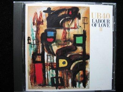 UB40 雷鬼樂團 - Labour of Love II 愛情勞工 二部曲 - 1989年維京 美國盤 - 碟片如新 - 251元起標