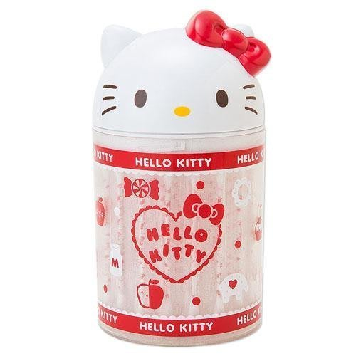 KITTY 可愛造型棉花棒+收納盒