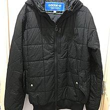 執屋斷捨離 極少著九成新 購自專門店 Adidas 黑色夾棉有帽拉鍊格仔褸 M碼 中性款 輕身時尚