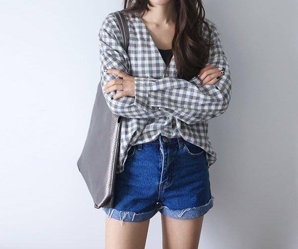 牛仔短褲 Yoho (16DN0418-1) 韓新款復古高腰牛仔短褲熱褲 可搭配T恤/襯衫/背心 M-XL 有3色 AK
