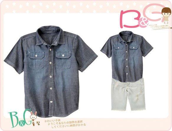【B& G童裝】正品美國進口GYMBOREE 口袋格紋布短袖襯衫S,M,L號5-6,7-9,10-12yrs
