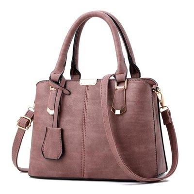 手提包女新款時尚大氣中年女包單肩媽媽包斜挎手提包 zm12611