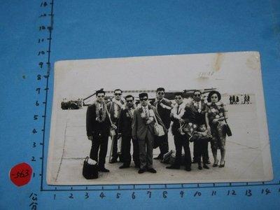 早期出國,古董,黑白老照片,相片
