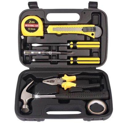 家用組套五金工具箱一字梅花螺絲刀鐵錘子扳手鉗子手動車載套裝