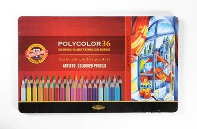 【Artshop美術用品】捷克 KOH-I-NOOR 藝術家油性色鉛筆 (36色) 鐵盒