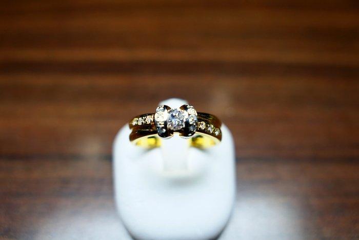 [吉宏精品交流中心]34分 天然鑽石 黃k金 造型 戒指