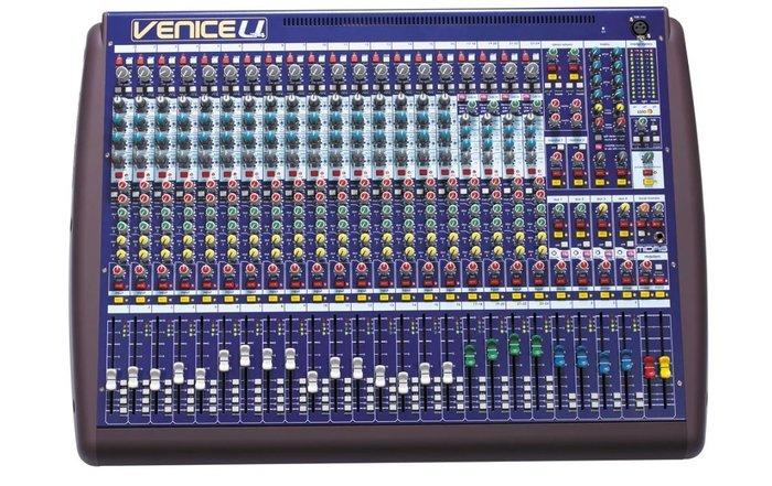 【昌明視聽】Midas VeniceU24  英國專業級 錄音室規格 24音軌混音器