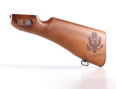 [01] WE 湯普森 M1A1 刻字 後托 改裝套件(THOMPSON 1928打字機教父二戰湯普森BB槍卡賓槍衝鋒槍