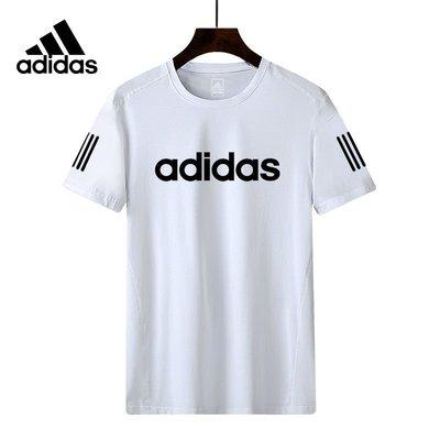adidas 愛迪達 三葉草  冰絲速乾跑步服 短袖T恤 韓版男女上衣 透氣速乾 健身棒球籃球足球運動服4色可選