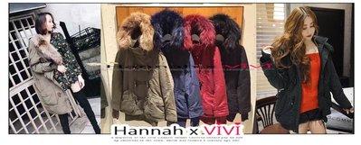 HannahxVIVI 全新 SALE 虧本出清 SLY 2016 n3b 修身軍裝貉子毛領保暖羊角釦羊羔絨內瞻抗寒外套