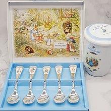 °愛麗嚴選° ├彼得兔▪水晶茶匙五件組┤ Peter Rabbit 咖啡匙 湯匙