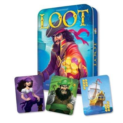 【陽光桌遊】(附中文規則) 星海奪寶 豪華鐵盒版 LOOT Deluxe 正版桌上遊戲 滿千免運