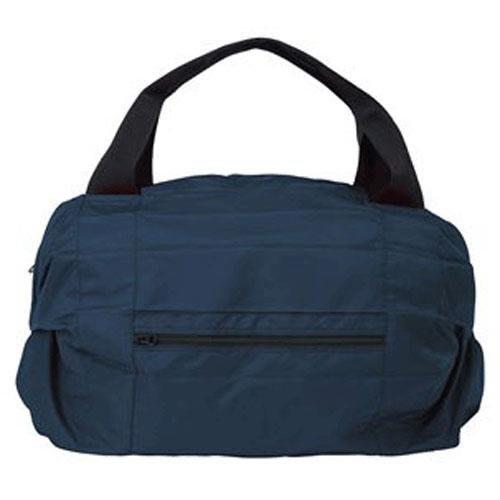 【東京速購】Shupatto 環保購物袋 大容量 輕巧 秒收 折疊購物包 波士頓包 手提 肩背包 行李箱旅行包 - 深藍