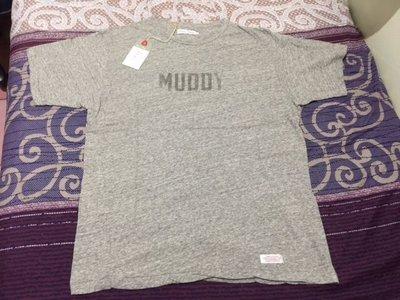全新Deluxe MUDDY灰色T-SHIRT SIZE:L 日本製 藤原浩 冠希 六叔 supreme visvim off-white madness