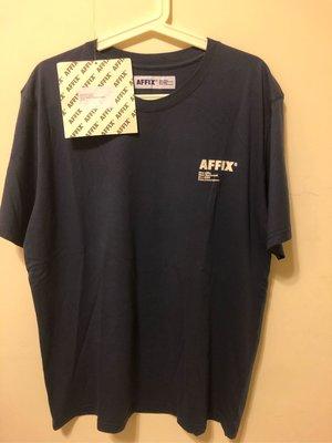 AFFIX 深藍Logo 短T L號