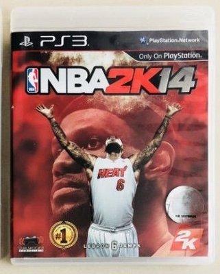 自售PS3原裝遊戲片NBA 2K14 勁爆美國職籃 中文版