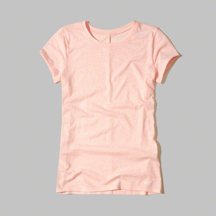【HOLLISTER Co.】【HCO】HC女款短袖素T左下白鷗淺粉 F01170506-05