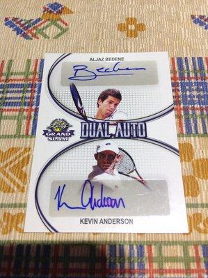 2018 Leaf Grand Slam - Aljaz Bedene & Kevin Anderson 雙人簽名卡