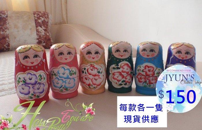 套件 禮品五層俄羅斯娃娃套娃搞笑套娃套娃木制玩具手工藝禮品玩具教具畢業設計擺飾品6色JYUN'S現貨特賣