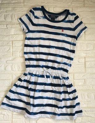 【二手商品】 Ralph Lauren 藍色條紋洋裝、size:6