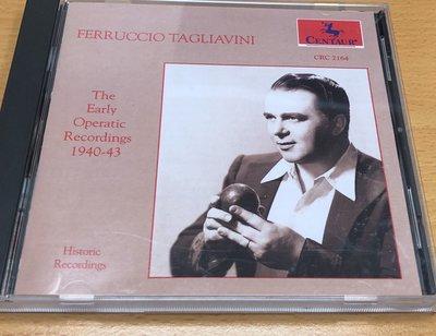 絕版二手CD FERRUCCIO TAGLIAVINI EARLY OPERA ARIAS CENTAUR