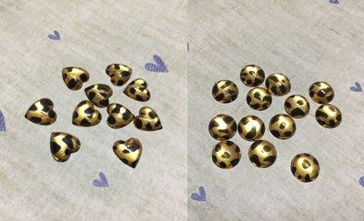9mm 愛心 圓形 豹紋造型平面鑽 DIY素材 奶油殼 貼鑽 袖珍小物 飾品材料 (現貨)