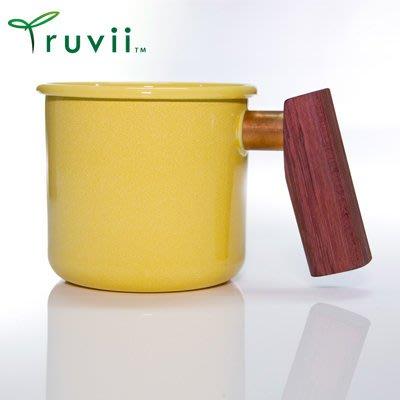 丹大戶外【Truvii】木柄琺瑯杯 400ml-特製木柄 紫心木款