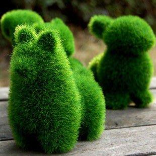 東大居家-Grass Land 動物人造草景觀婚禮佈置庭園擺設 狗 &草泥馬...2款可挑款