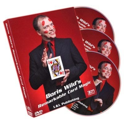 [魔術魂道具Shop] 美國原廠~Remarkable Card Magic (3 DVD Set) by Boris Wild~超神記號牌魔術