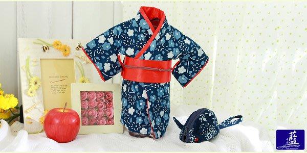 !!((中國藍Anewei))客家藍染和服酒瓶套~F~送禮自用兩相宜