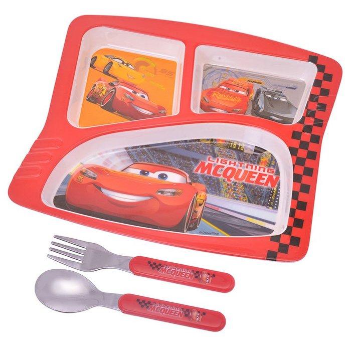 《FOS》日本 迪士尼 閃電麥坤 兒童 餐具 湯匙 叉子 餐盤 上學 開學 孩子最愛 禮物 2019新款