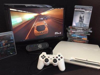 "PS3 遊戲機連手制🎮。13隻原裝遊戲 及 SHARP 19""TV"