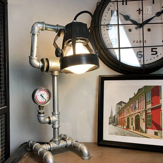 【曙muse】設計感水管桌燈 造型檯燈 Loft 工業風 咖啡廳 餐廳 居家擺設