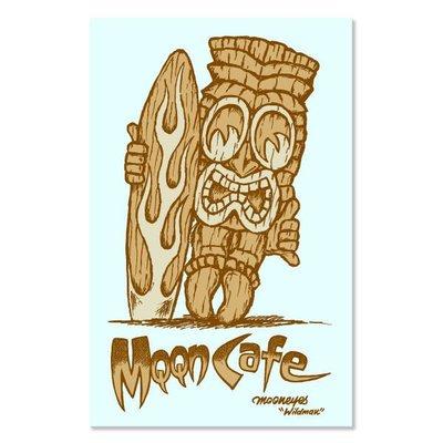 (I LOVE樂多)MQQN Cafe Tiki Sticker 貼紙 防水/耐候/高品質(整張貼透明底)