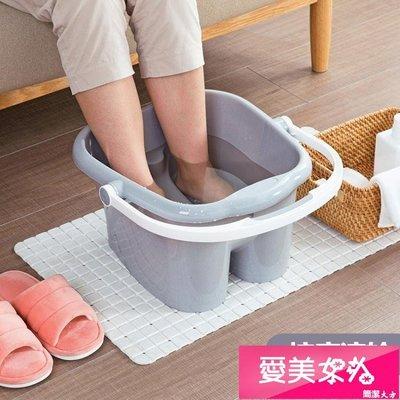 加高按摩泡腳桶足浴桶家用泡腳盆加厚塑料...