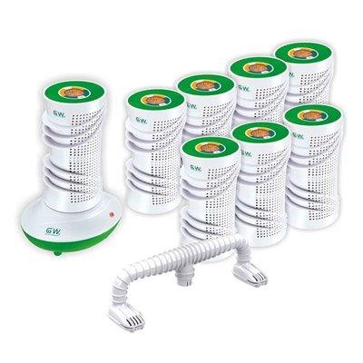 現貨 賣完絕版 GW水玻璃除溼機 10件組 直筒除濕機 8桶1機座烘鞋管 水玻璃除濕機 防潮 [代買代購]