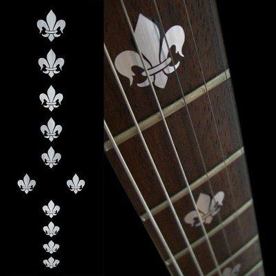 園之屋 現貨 日本 Inlay sticker 金屬色 劍型鳶尾 另有黃色 指板貼紙 民謠吉他 電吉他 貝斯