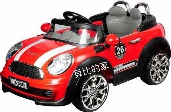 貝比的家-親親-MINI 遙控 手動/雙驅動雙電池兒童電動車 -(米色、紅色)-特價$4650元面經營