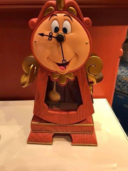 香港迪士尼樂園限定 美女與野獸 時鐘先生