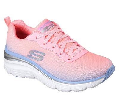 SKECHERS Fashion Fit - Build Up柔軟的彩色網眼鞋面記憶泡沫微增高緩衝舒適鞋墊12717