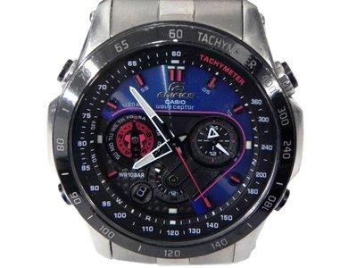 電波錶 [CASIO EQW-M1001] EDIFICE視覺系3D賽車電波錶[藍色+碳纖面] 高雄市