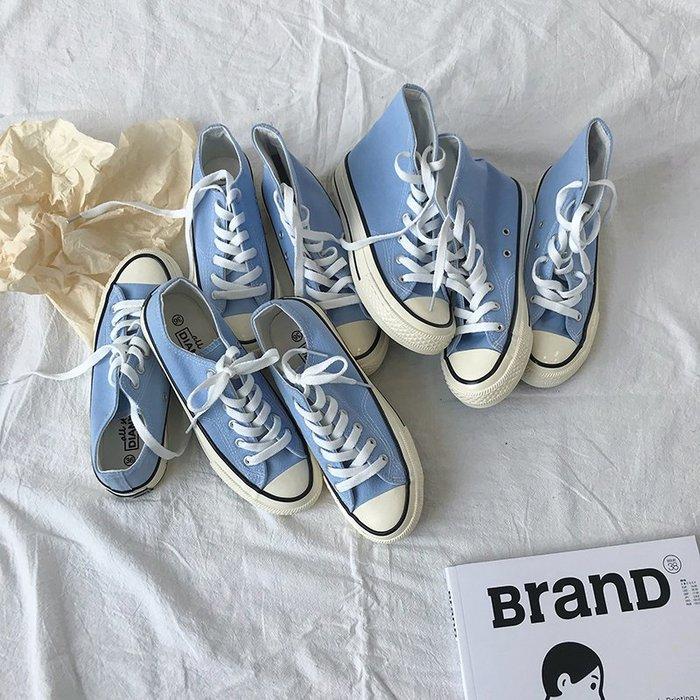 小尤家~復刻1970高幫帆布鞋萬年款新款秋季百搭韓版原宿學生chic板鞋