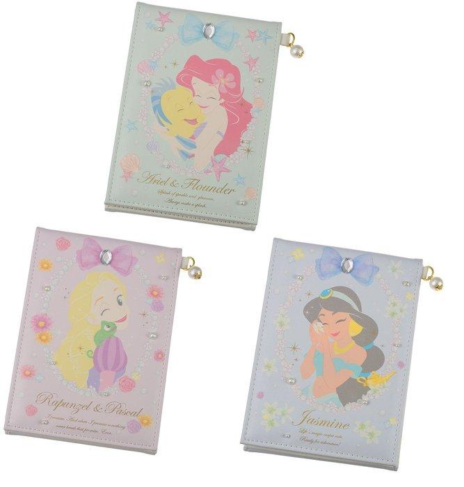 迪士尼Disney公主系列《現貨》三折立鏡 隨身鏡~愛麗兒 樂佩 茉莉~日本正品~共3款~心心小舖