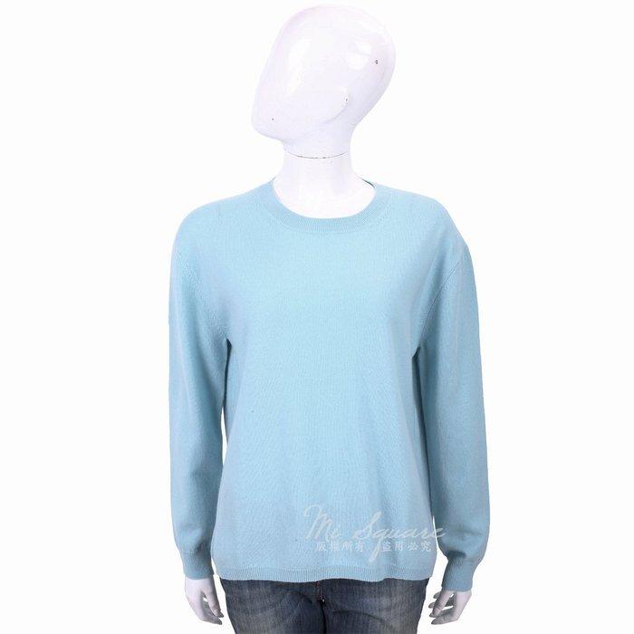 米蘭廣場 ALLUDE 喀什米爾天藍純色極簡針織羊毛衫 1740248-27