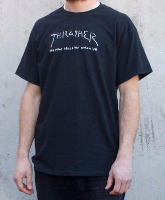 【THRASHER】New Religion Worldwide純棉圓筒Tee (黑色)