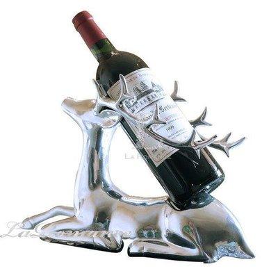 【芮洛蔓 La Romance】純銅鍍銀麋鹿紅酒架