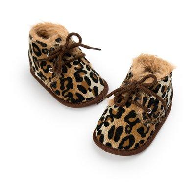 鞋鞋樂園~豹紋加絨休閒鞋-學步鞋~寶寶...