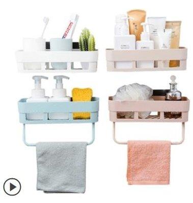 衛生間浴室廁所洗手間免打孔上置物架衛浴廚房洗漱臺壁掛收納架