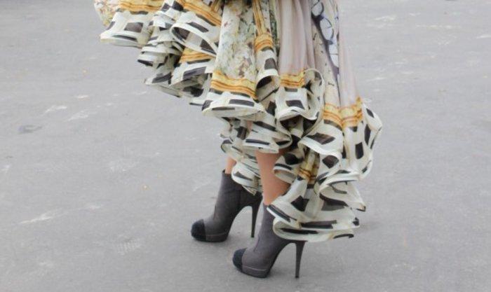 Chanel 經典雙色 灰x 黑色閃耀雙色真皮高跟短靴  裸靴 前高後高 好萊塢明星 名媛 最愛